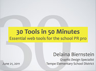30 Tools in 50 Minutes: Essential web tools for the school PR pro